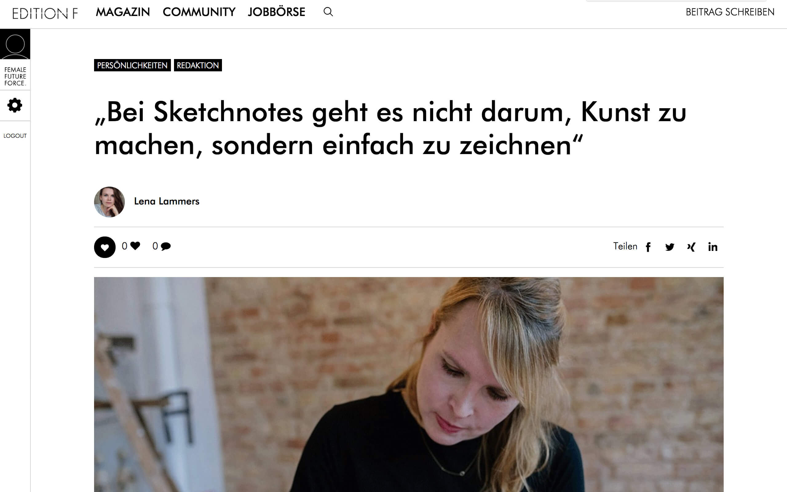 Sketchnotes Interview EditionF