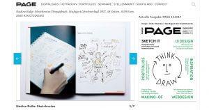 Sketchnotes Buch in der aktuellen Page
