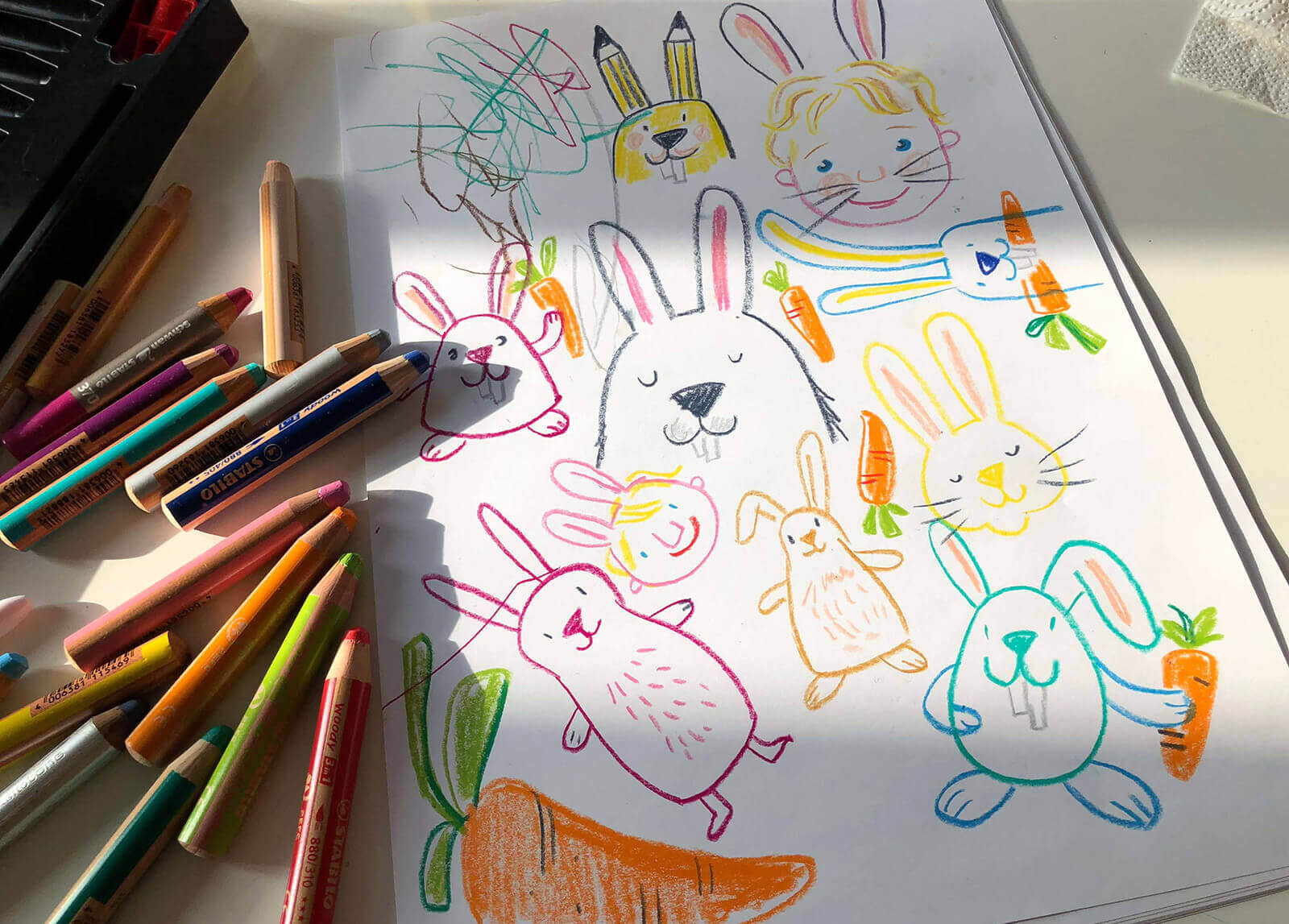 Sketchnotes How to draw Easterbunnies