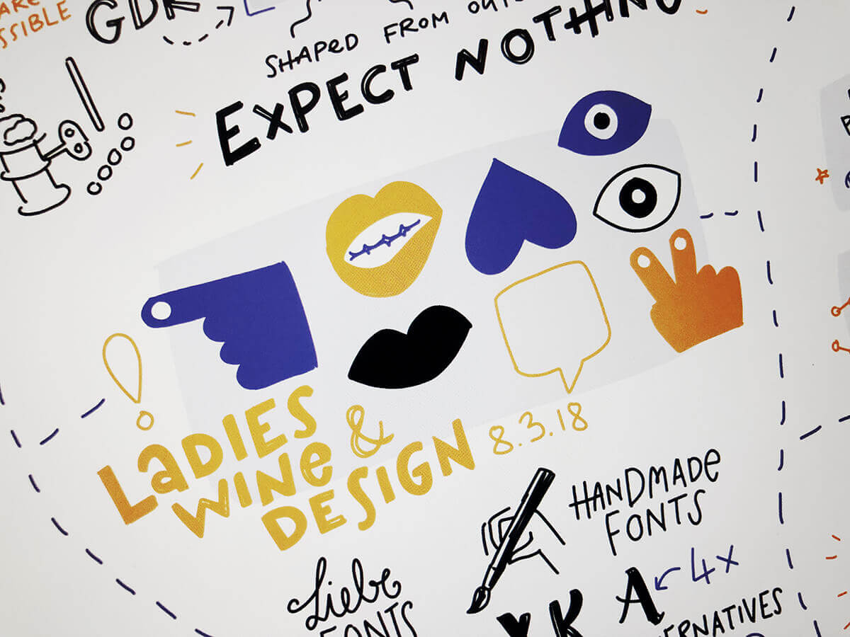 Sketchnotes Ladies, Wine & Design