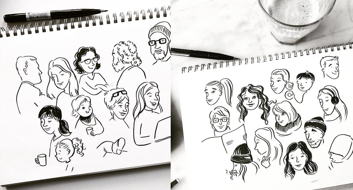 Line Drawing Tumblr Tutorial : Diversity drawing people in sketchnotes sketchnote love