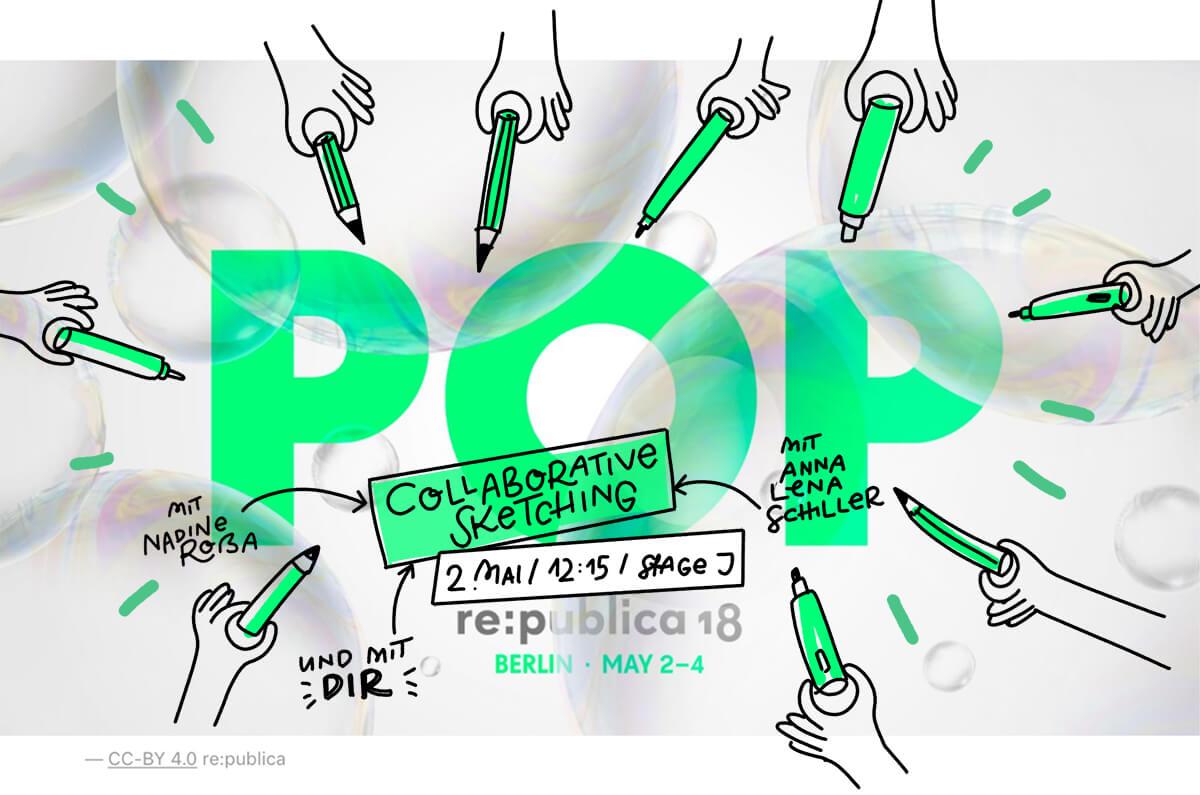 Sketchnotes auf der Republica: Wir zeichnen Pop