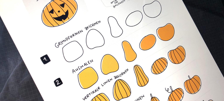 How To Draw Kürbis Für Halloween In 5 Schritten Zeichnen