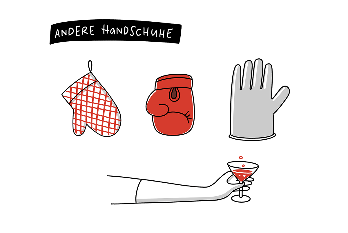Sketchnotes Zeichenanleitung Handschuhe