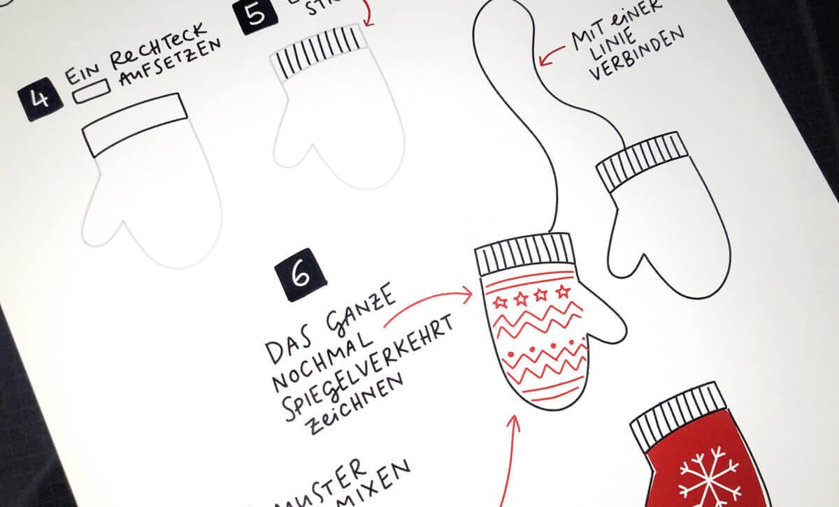 Sketchnotes – So zeichnet man Handschuhe