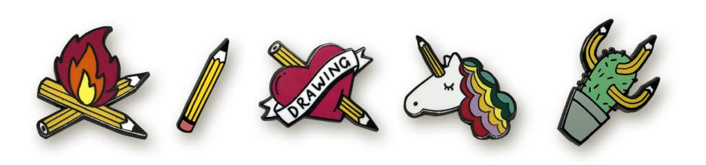 Sketchnote Love Pins