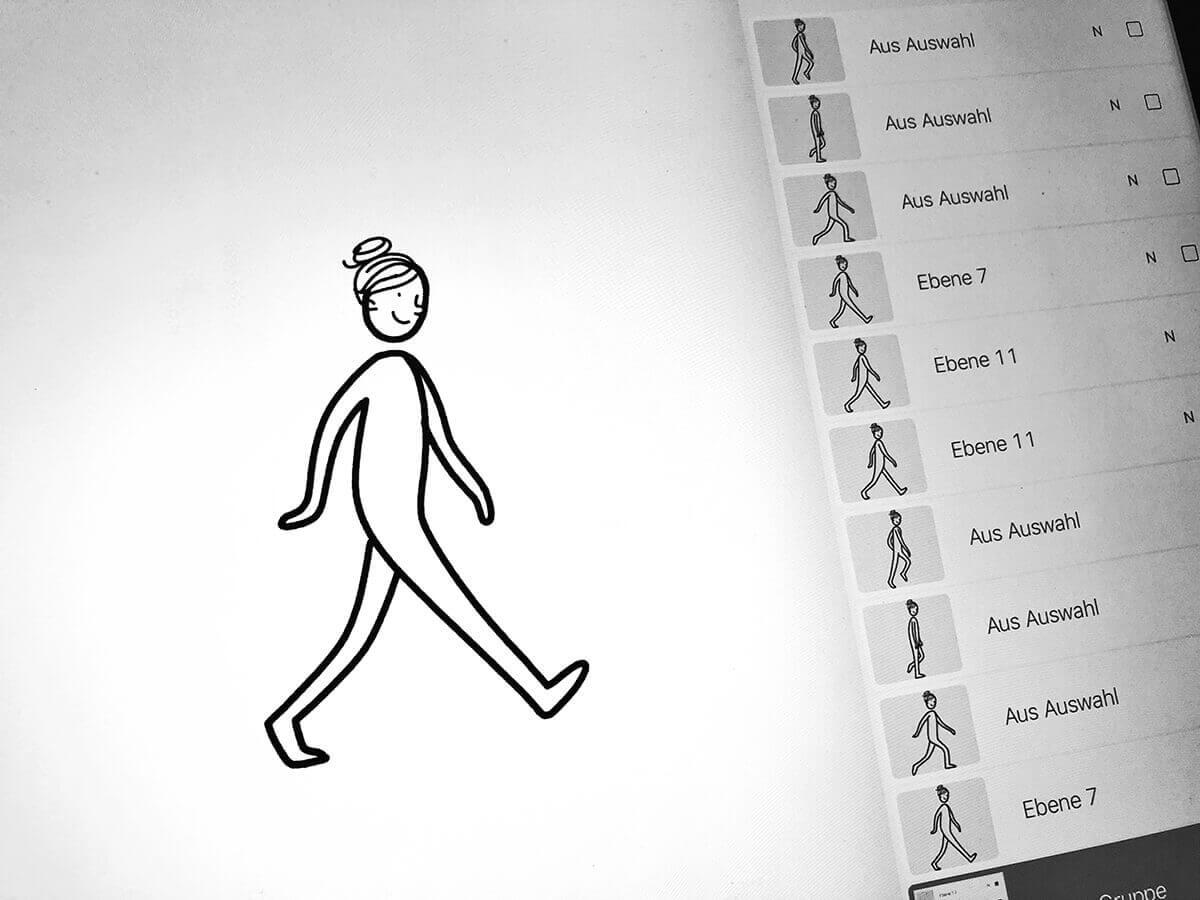 Animierte Gifs in Procreate erstellen