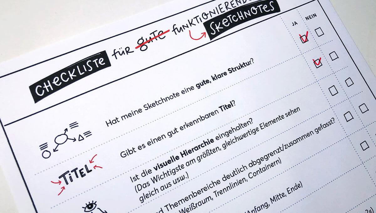 Sketchnotes Checkliste