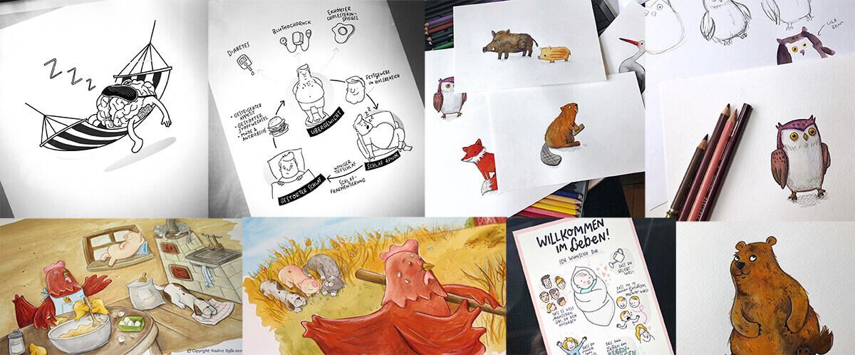 Sketchnotes Graphic Recording Illustration Nadine Roßa
