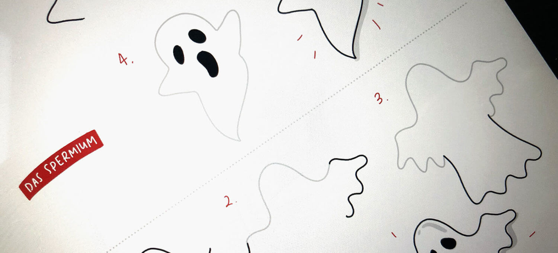 Sketchnotes Zeichenanleitung Gespenst