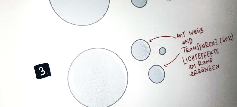 Sketchnotes Seifenblasen zeichnen einfach