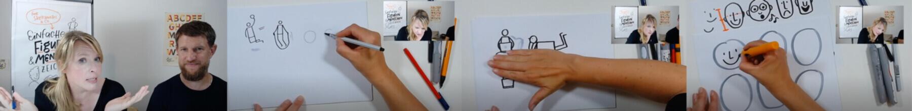 Sketchnotes Workshop Menschen zeichnen
