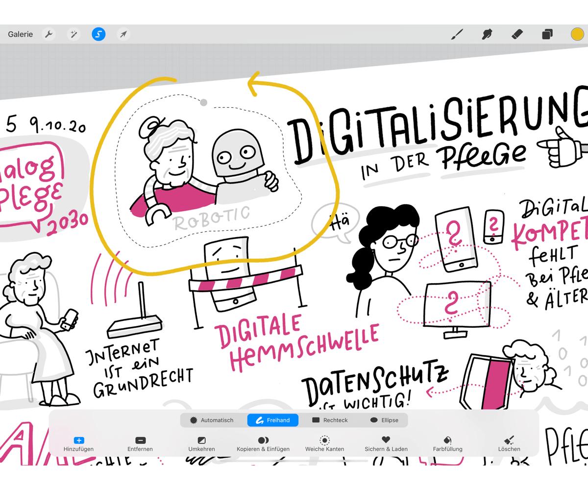 Procreate Hacks für Sketchnotes – Einfügen