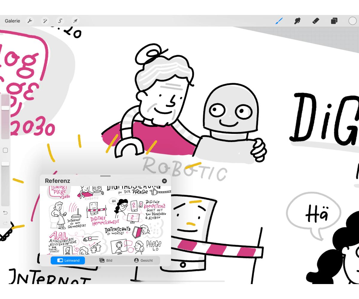 Procreate Hacks für Sketchnotes – Referenz