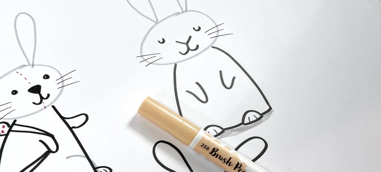 So zeichnest du einen Osterhasen